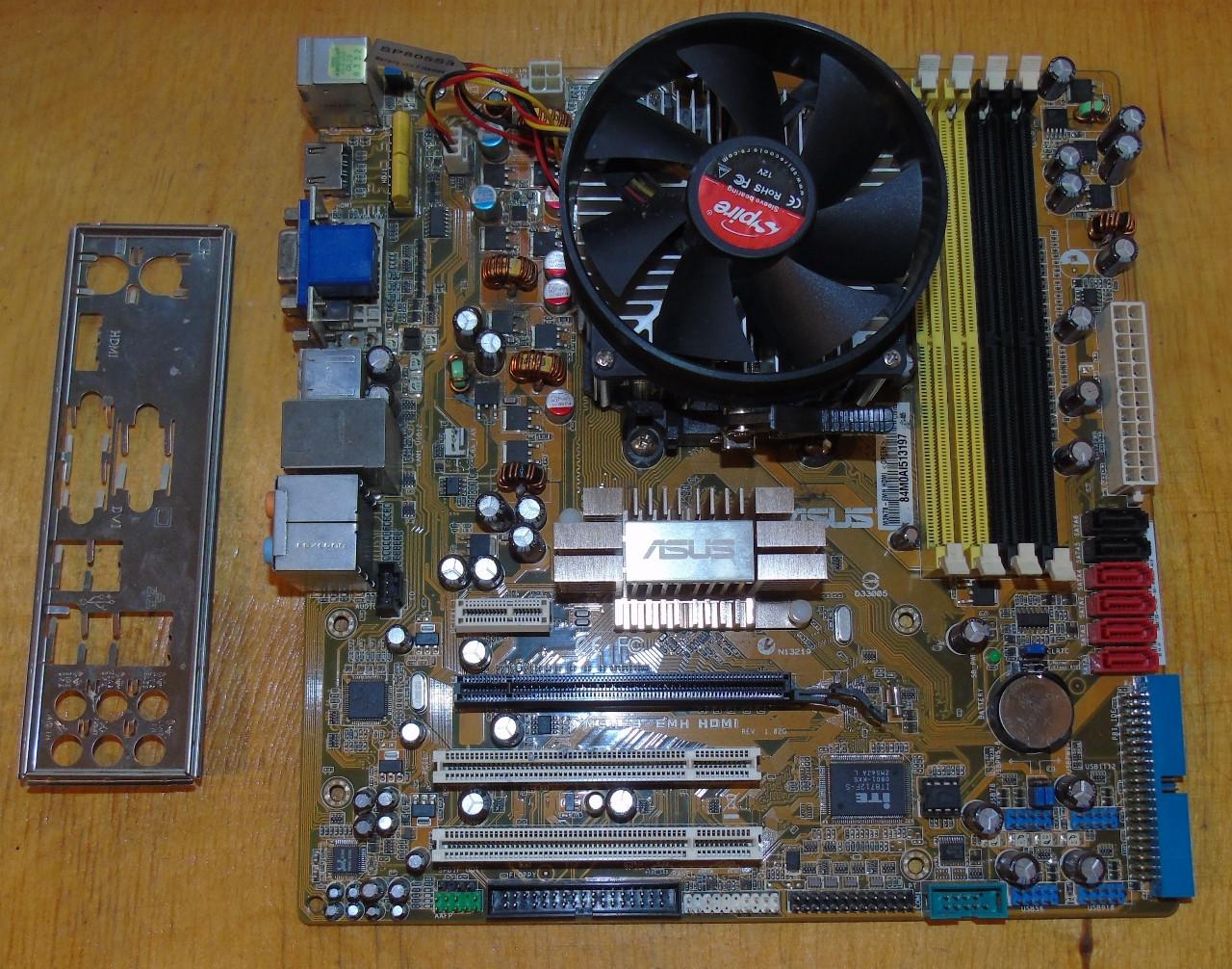 AM3 Материнская плата Asus M3N78-EMH HDMI + Процессор AMD Athlon II X3 455 @