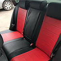 Авточехлы Audi 80 (В3) 1986-1991 (Экокожа) Чехлы в салон Красные, фото 2