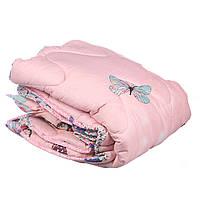 Комплект детский одеяло и подушка фланель ДИВА 105 х 150 см (29356) Розовый с бабочками