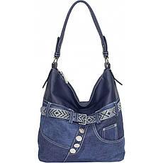Сумка жіноча №87221 джинс Синій