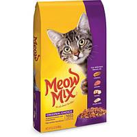 Корм Meow Mix Original, для кошек, с курицей, индейкой, лососем и рыбой, 7,26 кг