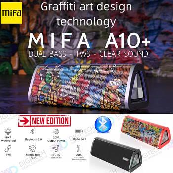 20W Колонка Mifa A10 Plus Graffiti Black портативная 20 Вт / IPX7  + USB TypeC / AUX / MicroSD / Bluetooth 5.0