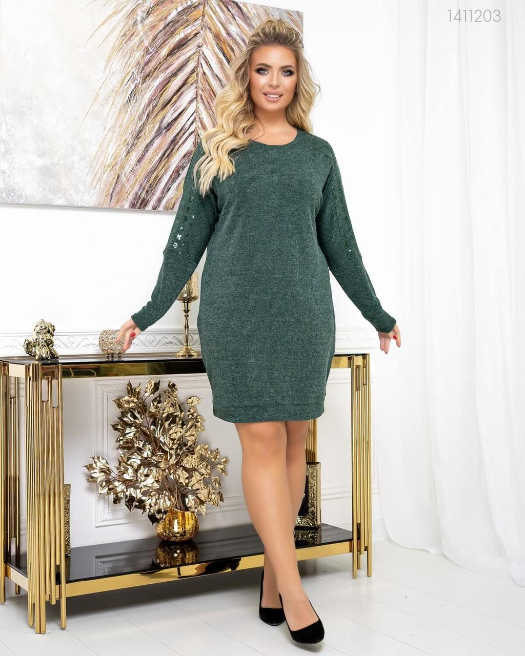 Р. 50-56 Женское нарядно-повседневное платье Хортен большого размера
