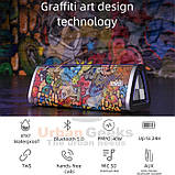 20W Колонка Mifa A10 Plus Graffiti Red портативная 20 Вт / IPX7  + USB TypeC / AUX / MicroSD / Bluetooth 5.0, фото 5