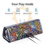 20W Колонка Mifa A10 Plus Graffiti Red портативная 20 Вт / IPX7  + USB TypeC / AUX / MicroSD / Bluetooth 5.0, фото 6
