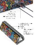 20W Колонка Mifa A10 Plus Graffiti Red портативная 20 Вт / IPX7  + USB TypeC / AUX / MicroSD / Bluetooth 5.0, фото 7