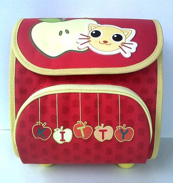 """Ранец каркасный 1731 """"Котёнок"""" красный"""