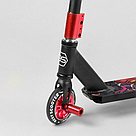 Трюковый самокат для трюков Best Scooter алюминиевый с алюминиевыми дисками красный , фото 2