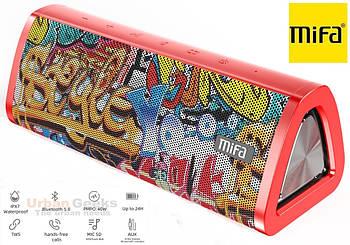 20W Колонка Mifa A10 Plus Graffiti Red портативная 20 Вт / IPX7  + USB TypeC / AUX / MicroSD / Bluetooth 5.0