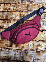 Поясная сумка Бананка Puma  Логотип черный Мужская Женская, фото 1