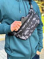 Сумка поясная Камуфляж мужская кожаная Бананка нагрудная Сумка на пояс мужская, фото 1