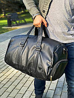 Велика кожана сумка Giorgio Armani кожзам красная (унисекс) Мужская Женская Сумка через Плечо, фото 1
