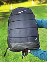 Рюкзак городской мужской, женский, Nike  AIR (Найк) Черный Реплика Логотип Белый, фото 1