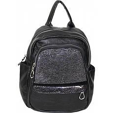 Рюкзак №389-5 Чорний з сріблом