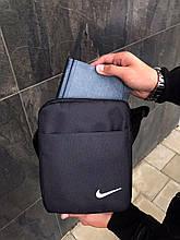 Мужская барсетка Nike черная сумка через плечо Мессенджер