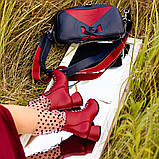 Ботинки с фальш-шнуровкой, каблук 4,5см, цвет красная груша, в наличии размер 38, фото 6