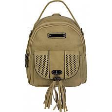 Сумочка - рюкзачок №V80362 Тёмно-бежевый