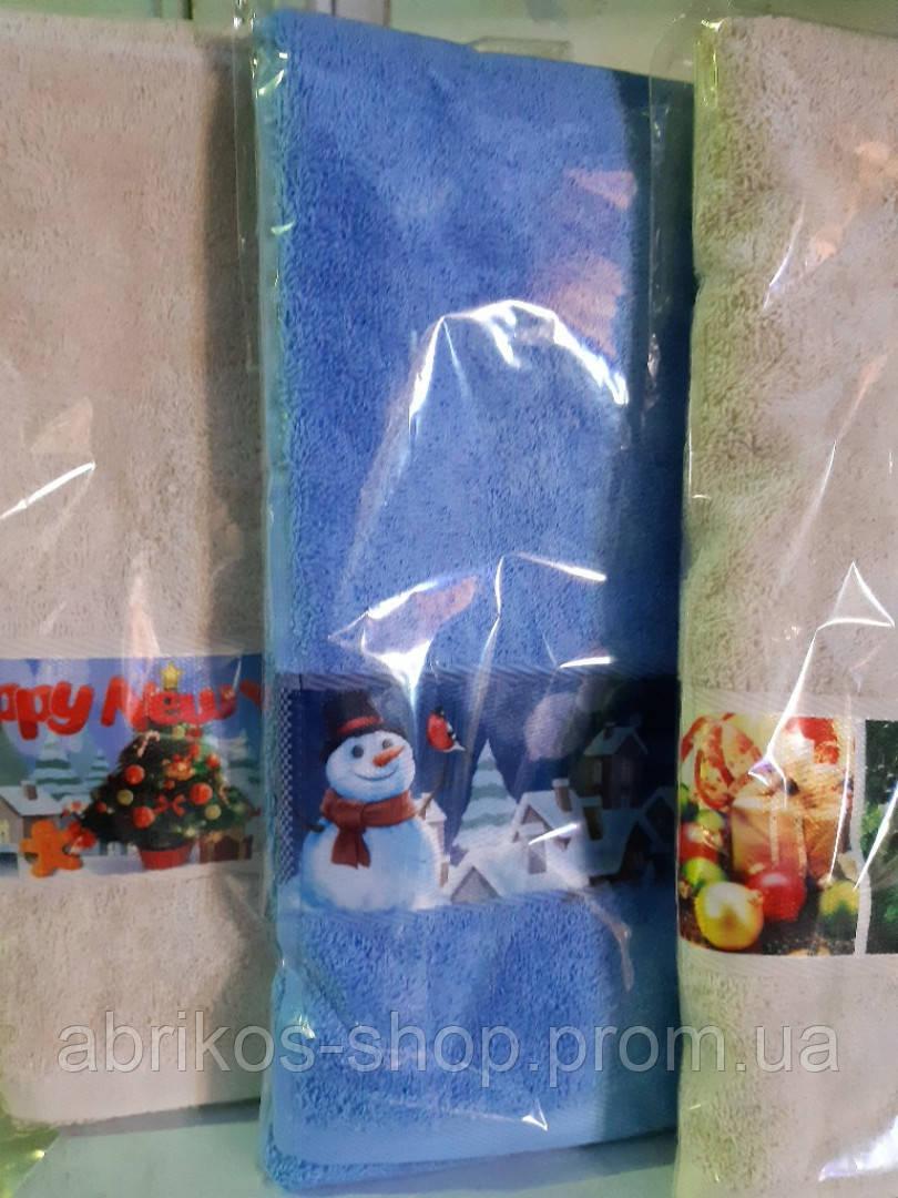 Полотенца подарочные, махровые с Новогодней тематикой