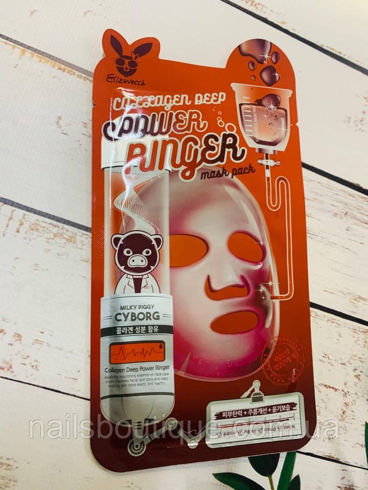 Тканинна маска Elizavecca Power Ringer Collagen Deep з колагеном