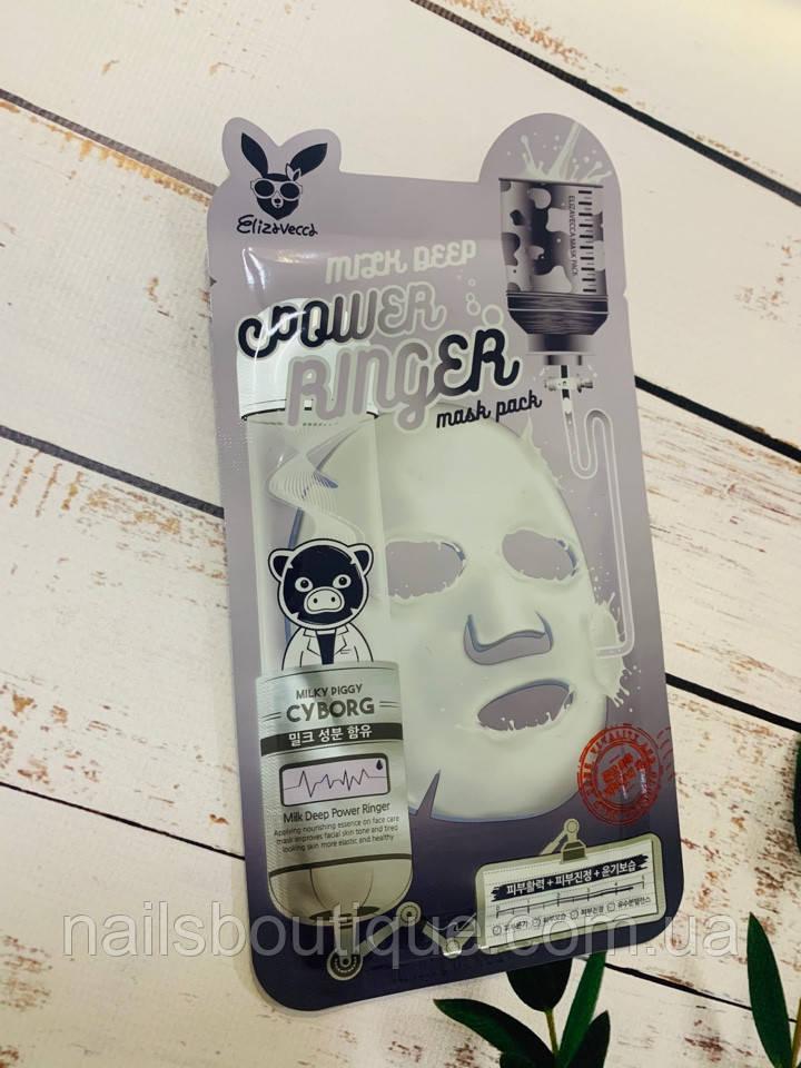 Тканинна маска Elizavecca Power Ringer Milk Deep з екстрактом молока