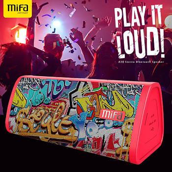 Колонка Mifa A10 Graffiti Red 10W портативный динамик 10 Вт + поддержка AUX / MicroSD / Bluetooth