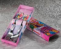 """Набір дитячих столових приладів """"Принцеси"""" 2-х предметний."""
