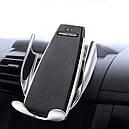 Автомобільна бездротова зарядка-тримач з сенсорним датчиком, фото 3
