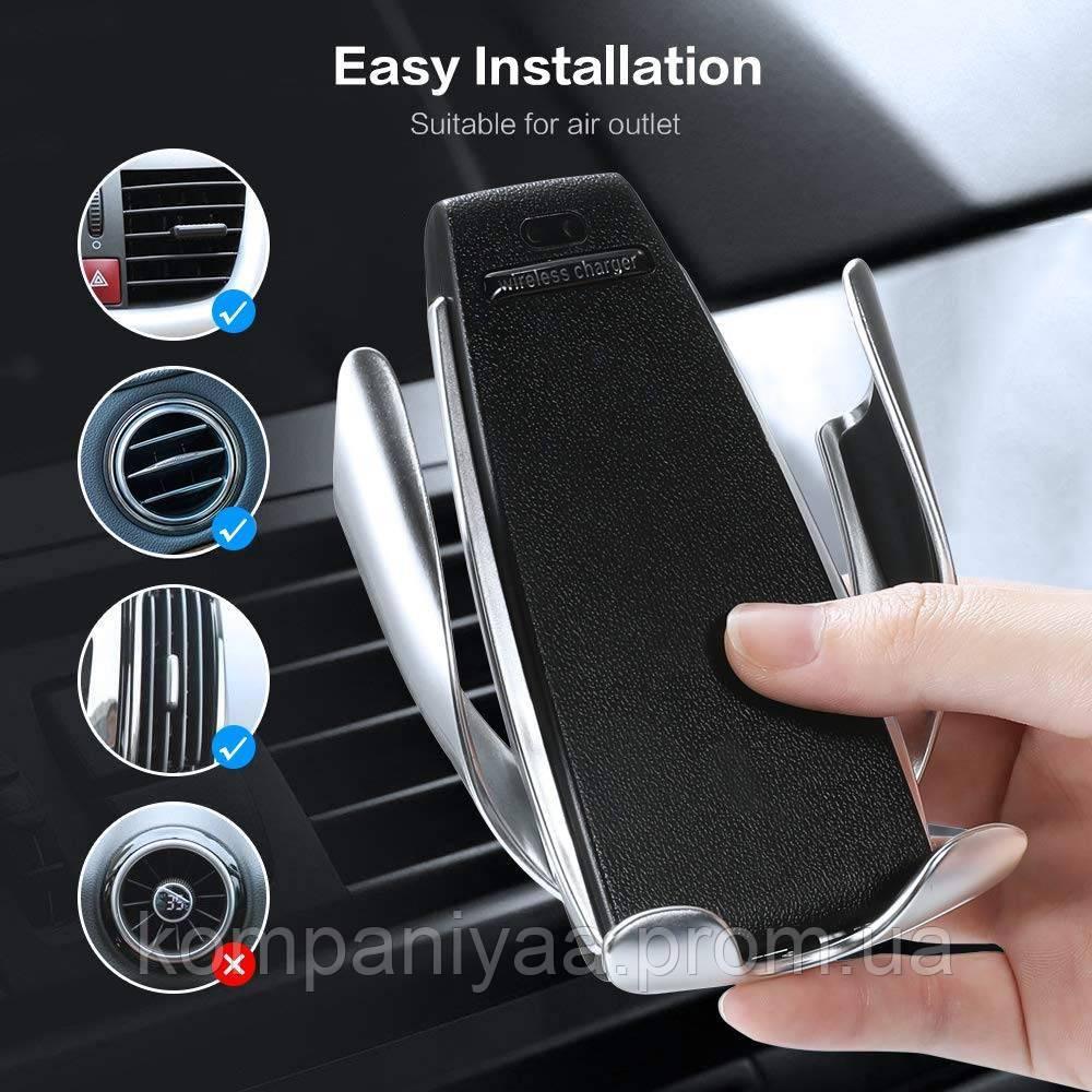 Автомобільна бездротова зарядка-тримач з сенсорним датчиком