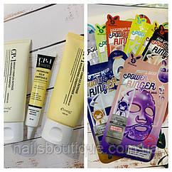Новинка! Корейская косметика по уходу за волосами-СР-1. Тканевые маски для лица Elizavecca