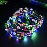 Венок на голову светящийся, веночек с цветочками и с подсветкой, фото 2