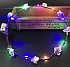 Венок на голову светящийся, веночек с цветочками и с подсветкой, фото 3
