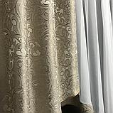 Готовая занавеска с ламбрекеном  250x180  Цвет-Бежевый, фото 3