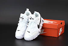 Мужские кроссовки Nike Air Barrage. Белые. ТОП Реплика ААА класса., фото 3
