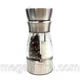 Млин для спецій (перцю і солі) механічна 2 в 1 Herisson EZ-0008