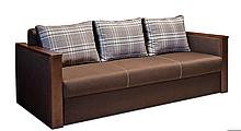 Красивый раскладной диван ВЕГА Спальный диван для повседневного сна Софа Коричневый