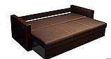 Красивый раскладной диван ВЕГА Спальный диван для повседневного сна Софа Коричневый, фото 4