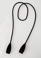 Шнурок / хлястик силиконовый на дужки очков для ношения на шее / страховки от падения / длинный 52 см ЧЁРНЫЙ