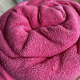 Простынь на резинке махровая   Размер 90х200 + 25см. Цвет - Розовый   Простыня натяжная, фото 2