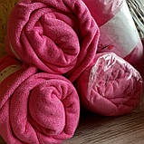Простынь на резинке махровая   Размер 90х200 + 25см. Цвет - Розовый   Простыня натяжная, фото 3