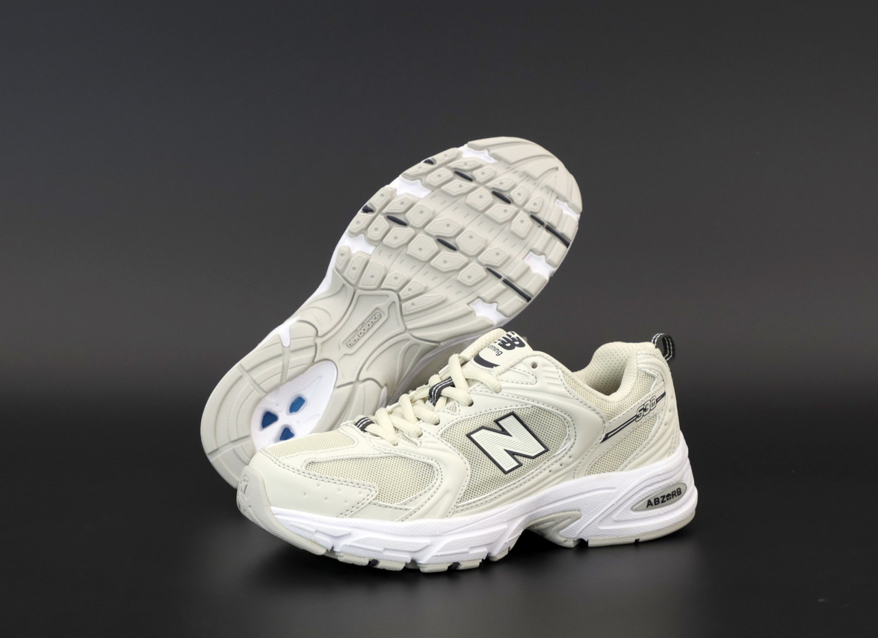 Женские кроссовки New Balance 530 Бежевые. ТОП Реплика ААА класса.