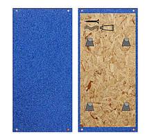 Стіновий протектор обгумований 1000х500х30 мм (захист стін / колон) синий