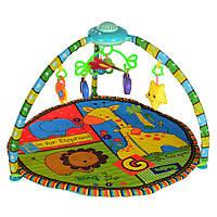 Круглый коврик для младенца 850 мм, проекция звездного неба, 2 дуги, подвески, Саванна