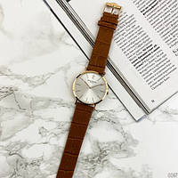 Мужские наручные часы Patek Philippe Calatrava Brown-Gold-White, фото 2