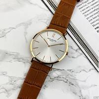Мужские наручные часы Patek Philippe Calatrava Brown-Gold-White, фото 5