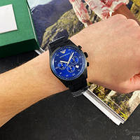 Мужские наручные часы Emporio Armani AR-5905 Black-Blue Silicone, фото 3