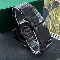 Мужские наручные часы Emporio Armani AR-5905 Black-Blue Silicone, фото 4