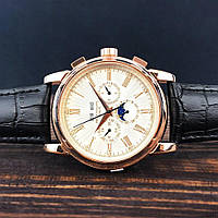 Мужские наручные часы Patek Philippe Grand Complications Roman Black-Gold-White, фото 2