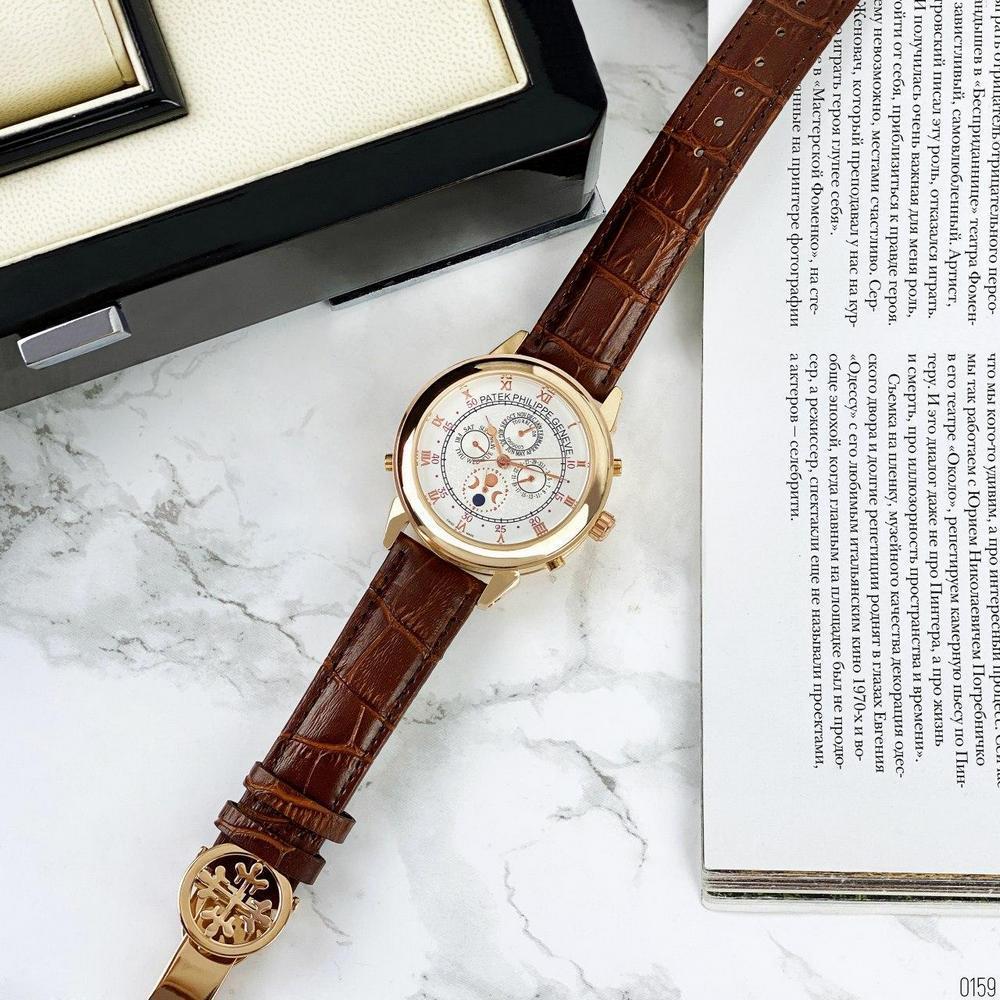 Мужские наручные часы Patek Philippe Grand Complications 5002 Sky Moon Brown-Gold-White