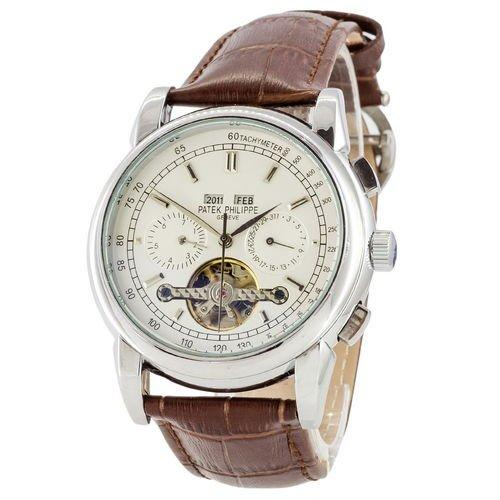 Мужские наручные часы Patek Philippe Grand Complications Tourbillon Brown-Silver-White