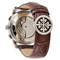 Мужские наручные часы Patek Philippe Grand Complications Tourbillon Brown-Silver-White, фото 2